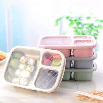 Non-pollution Wheat Microwave Bento Lunch Box Picnic Food Container Storage Box