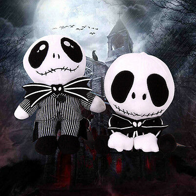 The Nightmare Before Christmas Jack Skellington Soft Plush Toy Doll Xmas Gift ES