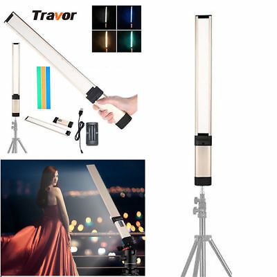 Pro Handheld LED Video Light 3200-10000K Wand Stick Tube DV Photography Lighting