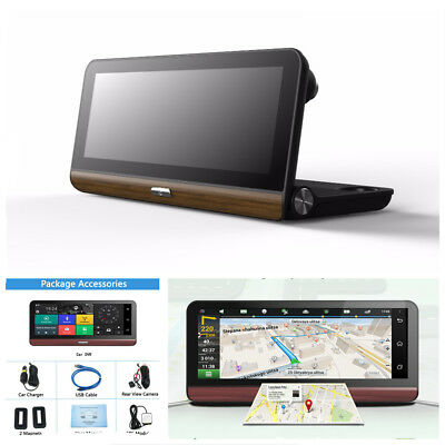 7.84'' 4G Wifi HD Android Car GPS DVR Camera Video Rear View Recorder w/ US Map