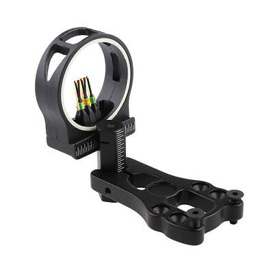 Black 5-Pin Archery Hunting Arrow Sight With Sight Light for Compound Bow Gear