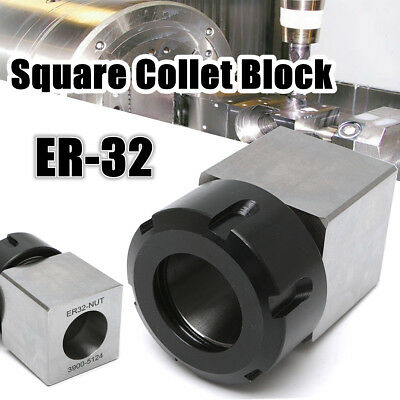 ER-32 Square Collet Chuck Block Holder 45*65mm For CNC Lathe Engraving Machine