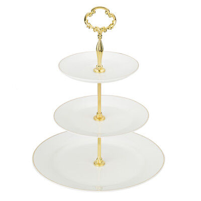 NEW Cristina Re Signature Ivory & Gold 3 Tier Cake Stand