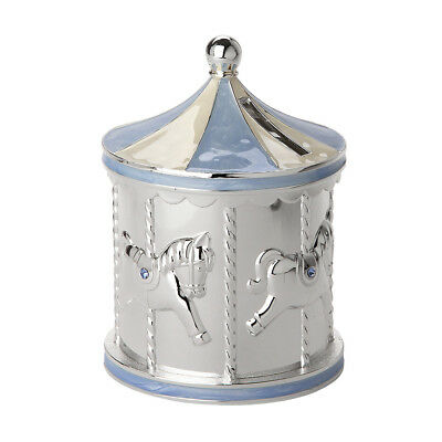 NEW Gibson Baby Carousel Blue Money Box