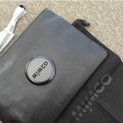 Mimco Loverly Matte Black Medium Pouch • Authentic Rrp $99.95
