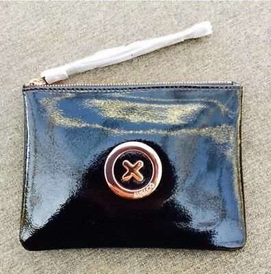 MIMCO Black Rose Gold Patent Leather Pouch Wallet -Express Delivery
