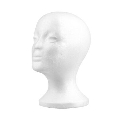 Female Styrofoam Mannequin Manikin Foam Head Model Hat Wig Display Stand UK