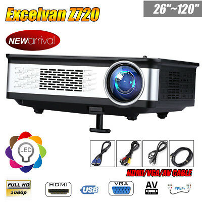 3300Lumen HD 1080P LED Projector Multimedia HDMI USB Outdoor Home Cinema Theater