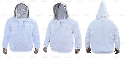 Pro Heavy Duty Cotton Beekeeping Jacket Unisex Bee Jacket Beekeepers Medium Size