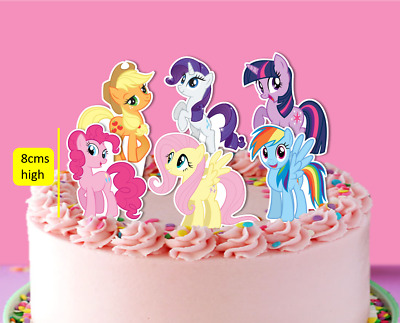 My Little Pony Mlp XL Stand Up Edible Cupcake Cake Toppers Fairy Birthday