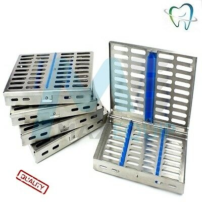 Sterilization Sterilizing Hold 10 DENTAL CASSETTE TRAY Rack x5 SET Medical CE