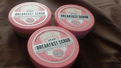 3 x soap and glory smooth star breakfast scrub
