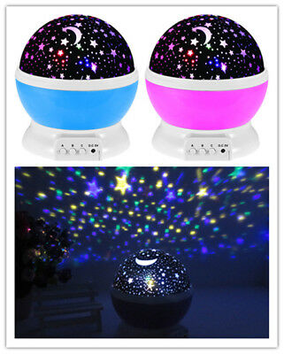 LED Projector Kids Lamp Star Rotating Projector Starry Night Children Sky Light