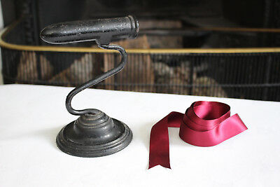 A c19th Antique Victorian Goffering Iron upon Stand