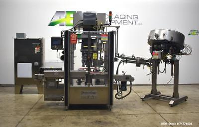Used- Fowler Zalkin Model CA8 320 NG 8-Head Rotary Capper with Sorter. Can opera