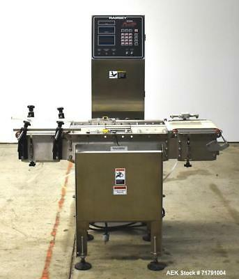 Used- Ramsey Icore AC8000 Checkweigher. Capable of speeds from 20-200 feet per m