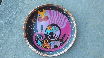 Vtg 1995 LAUREL BURCH FELINE FAMILY Franklin Mint Ltd Ed CATS cat plate