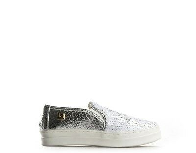 Scarpe LAURA BIAGIOTTI Donna Sneakers Trendy  ARGENTO//BIANCO Paillettes,PU 298AB