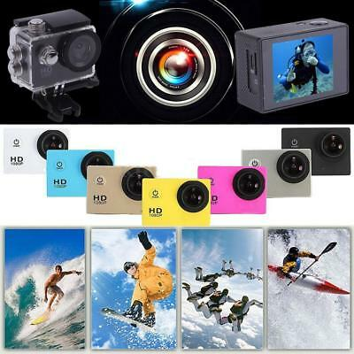 "1080P Full HD 2"" LCD Waterproof Sports DV Action Camera Travel Bike Camcorder"