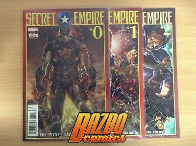 Secret Empire #0-10 Omega 2x FCBD Ties-Ins Complete Full Run Marvel Comics