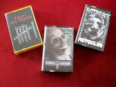 3 x Grindcore Tape package w/ROTOCLES,VIDARGÄNGR,GUEVNNA,DEATHRITE,MINDFLAIR etc