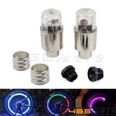 Neon LED Flash Tyre Wheel Valve Cap Light Lamp For Bicycles Motorcycles And Cars