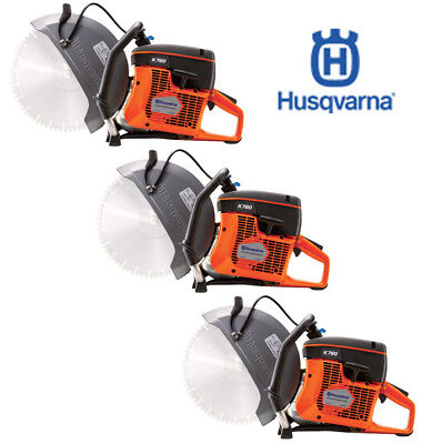 "THREE NEW Husqvarna K760 14"" Concrete Cutoff Saws"
