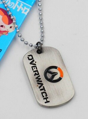 DZ1166 Overwatch Logo Alloy dog tag Necklace Pendant Chain Cosplay ~McCreeΔ