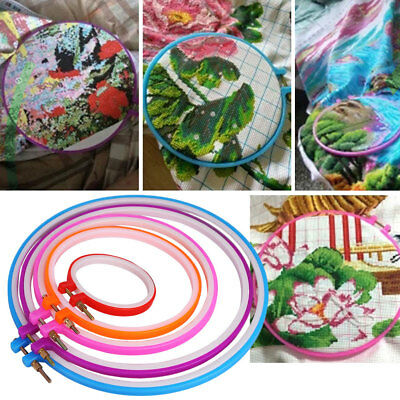 Home Cross Stitch/Embroidery Art Hoop Ring Sewing Fabric Craft Convenient Tool