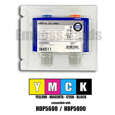 084051 HDPii YMCK 500 IMG #0510 Fargo 84051 HDP Color Ribbon for HDP5000