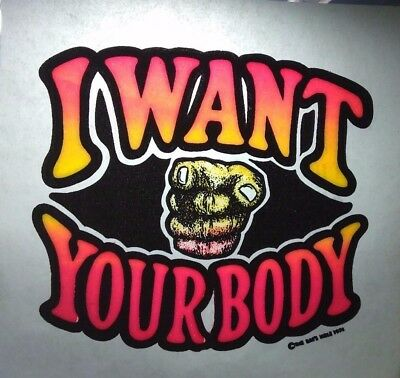 "Vintage 1974 The Rat's Hole Iron-On Transfer ""I Want Your Body"""