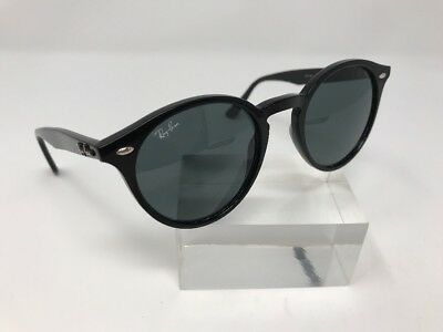 a7bbcae79a Authentic Ray Ban Sunglasses RB2180 601 71 49-21-145 Black Round Green