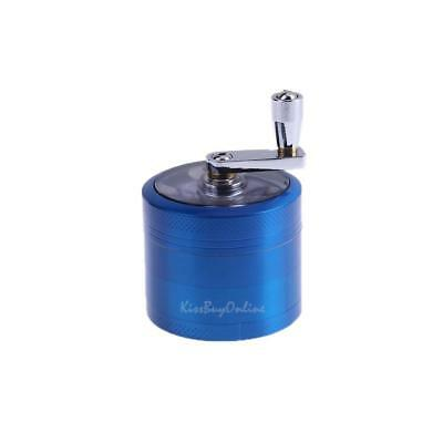 4 Layers Metal Tobacco Crusher Spice Smoke Herbal Herb Grinder Hand Muller Blue