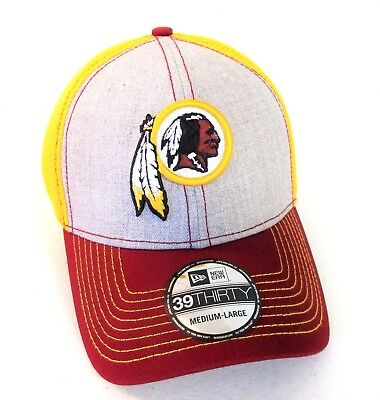 brand new e0ce3 dc160 Washington Redskins Cap New Era 39Thirty Stretch Fit Gold Collection Hat CAP  ~
