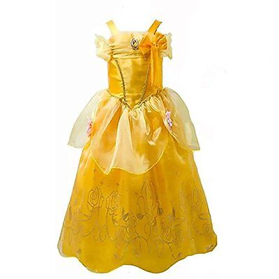 Belle Inspired Princess Dress Halloween Costume  Size 6-7 plus Free Shipping