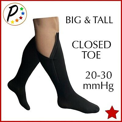 Presadee BIG TALL Original Closed Toe 20-30 mmHg Zipper Compression Wide Socks