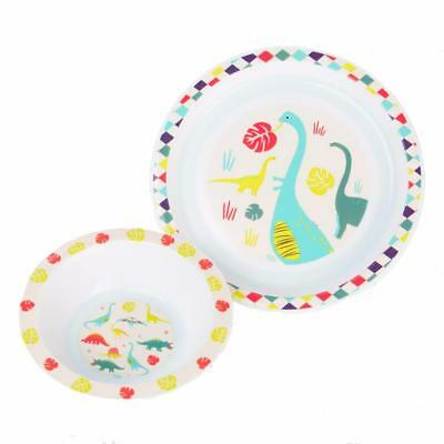 Vital Baby Dinosaur 2 Piece Plate and Bowl Tableware Set