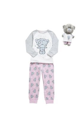 Girls Kids New Me to You Bear Hugs Pyjama Set with Dinky Bear 3 to 14 years