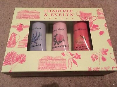 Crabtree & Evelyn London - Ultra Moisturising Hand Therapy Gift Set - 3 X 25g -A