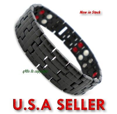 Anion Ion Magnetic Energy Germanium Power Bracelet Health 4In1 Armband Titanium