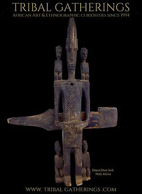 Monumental Old Dogon Door Lock with Ancestor figure, African Art