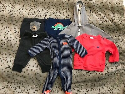 Carters 6 Months Baby Boy 6 Pc Lot Pants Sleeper Jackets Great Condition