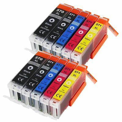 10 XL Ink Cartridges For Canon TS5050 TS6050 TS5051 TS5053 TS5055 MG7750 TS5055