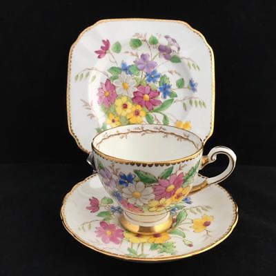 Tuscan Floral Vintage Trio Cup Saucer And Plate