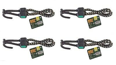 """(4) 24"""" Bungee Cord with Steel Core Hook ~ New"""