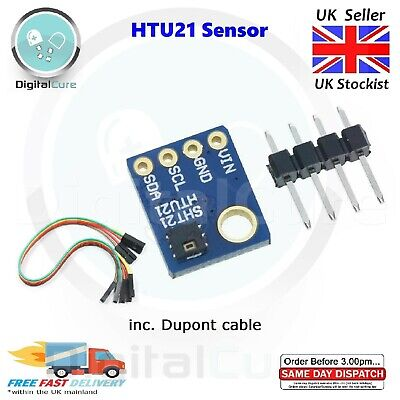 GY-21 Si7021 SHT21 I2C High Precision Humidity Temperature Sensor - Arduino Pi