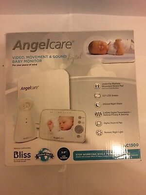 Angelcare AC1300 Digital Video, Movement and Sound Baby Monitor