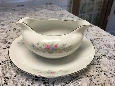Fine China Of Japan Florenteen Fantasia Gravy With Under Plate