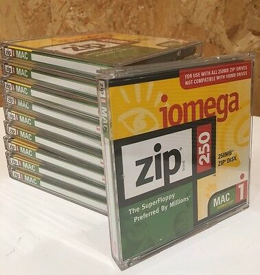 10 X BRAND NEW Iomega 250MB Zip disks - Original Iomega brand