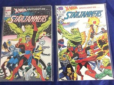 "1990 Marvel Comics ""X-Men Spotlight on Starjammers"" No. 1 & 2 NM Sleeved"